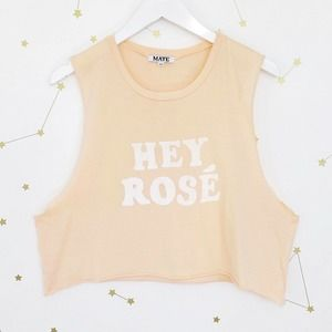 Mate The Label • Hey Rose Cut Off Graphic Tank Top